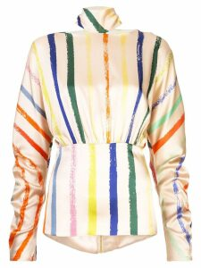 Silvia Tcherassi canonigos stripe blouse - Neutrals