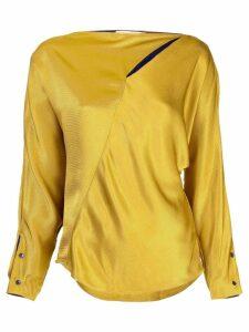 Palmer / Harding asymmetric cape blouse - Gold
