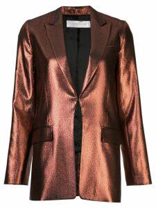 Victoria Victoria Beckham slim metallic blazer - Brown