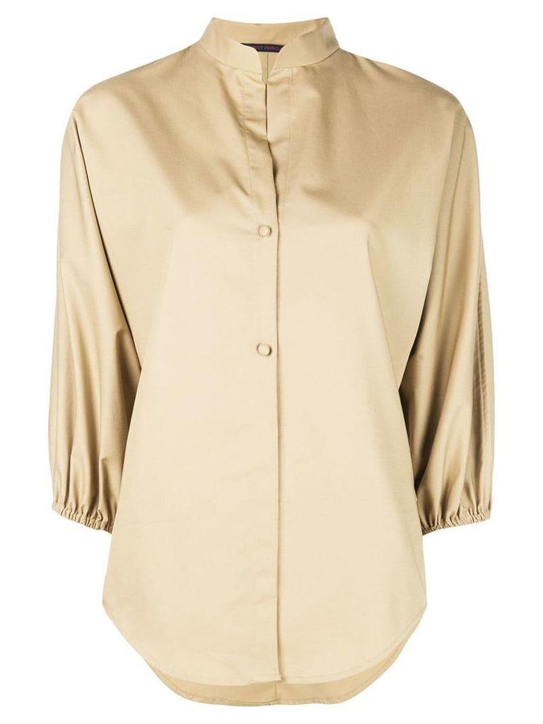 Harvey Faircloth mandarin collar shirt - Neutrals