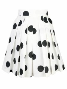 MSGM polka dot pleated skirt - White