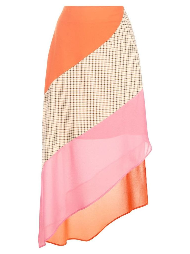 Rejina Pyo colour block asymmetric skirt - Multicolour