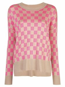 Adam Lippes checked sweater - Brown