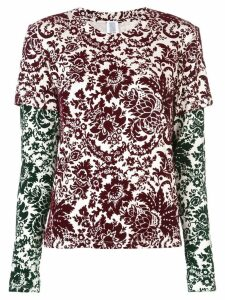 Rosie Assoulin floral print layered sweatshirt - Multicolour