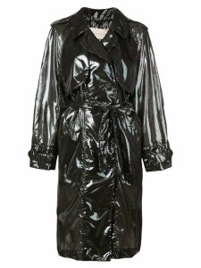 Christopher Kane iridescent trench coat - Black