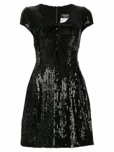 Chanel Pre-Owned Short Sleeve One Piece Dress - Black