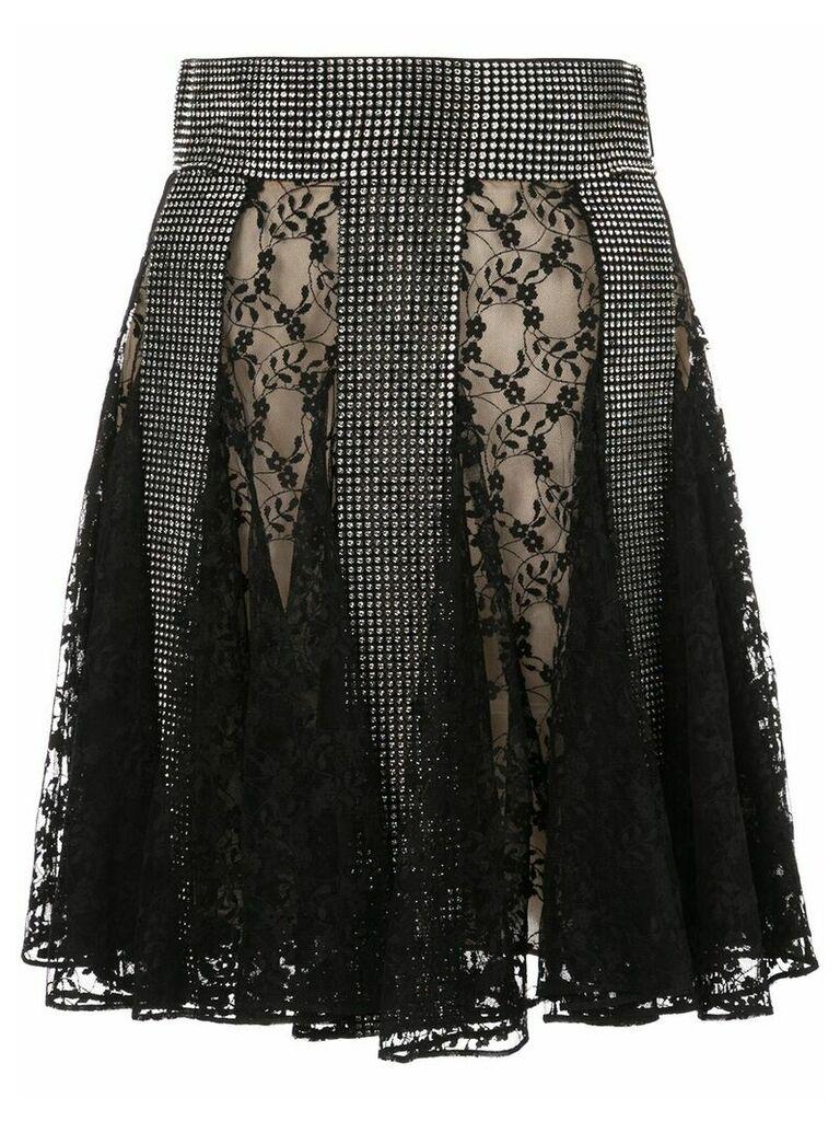 Christopher Kane mesh panel skirt - Black
