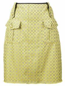 Harvey Faircloth printed a-line skirt - Yellow