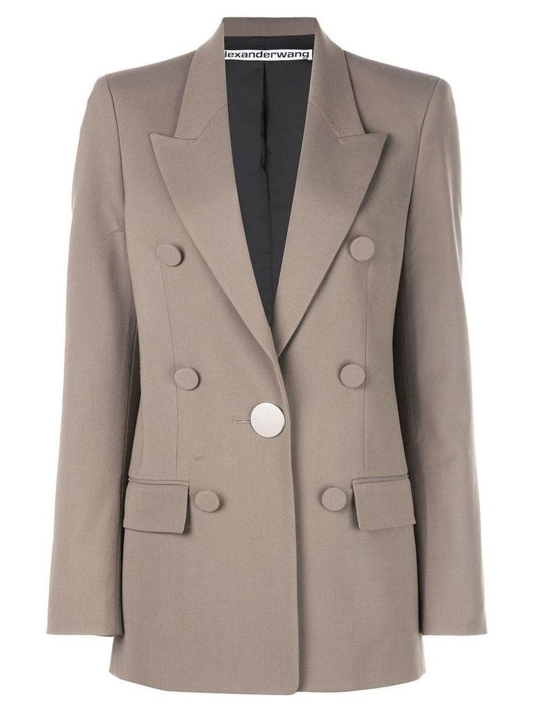 Alexander Wang buttoned blazer - Brown
