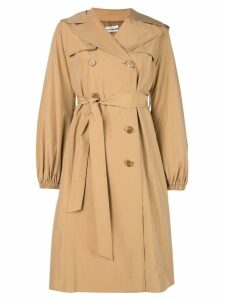 Co double-breasted trench coat - Brown