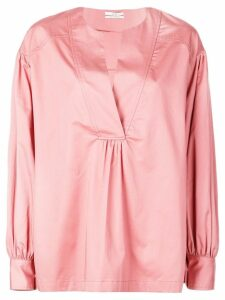 Co collarless blouse - Pink