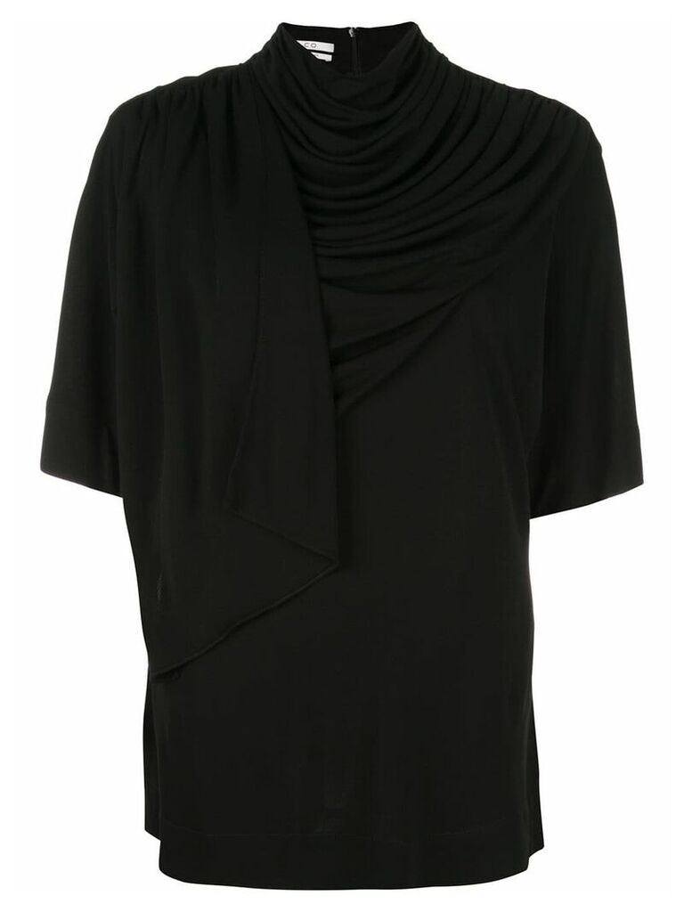Co draped neck blouse - Black