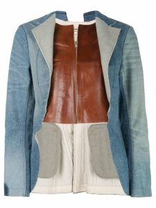Junya Watanabe open front denim jacket - Blue