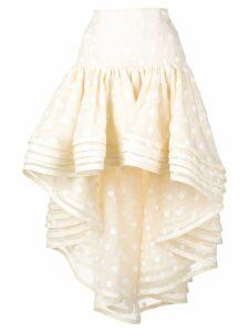 Marc Jacobs polka dot peplum skirt - White