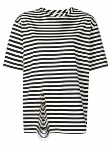 Monse embellished striped T-shirt - Black