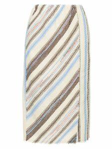 COOHEM striped tweed pencil skirt - Multicolour