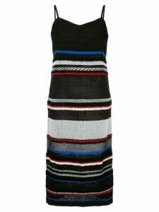 COOHEM striped knitted dress - Black