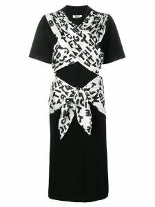 Mm6 Maison Margiela ribbon tied jersey dress - Black