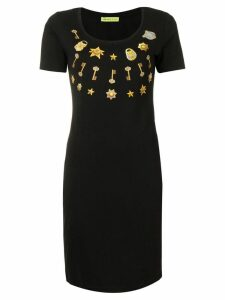 Versace Jeans key print dress - Black