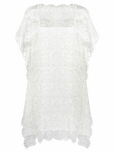 Tsumori Chisato lace embroidered dress - White