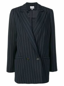 Ganni pinstripe double breasted blazer - Blue