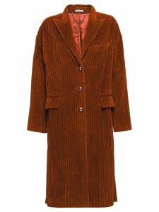 Miu Miu velour corduroy coat - Brown