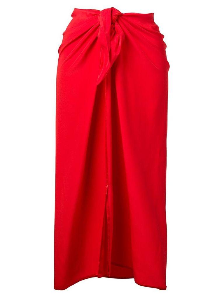 Jean Paul Knott midi sarong skirt - Red