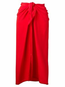 Jean Paul Knott midi sarong skirt - Red