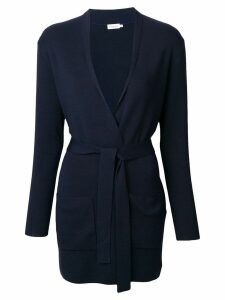 Filippa-K belted mid cardigan - Blue