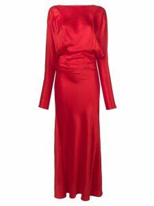 Victoria Beckham long cocktail dress - Red