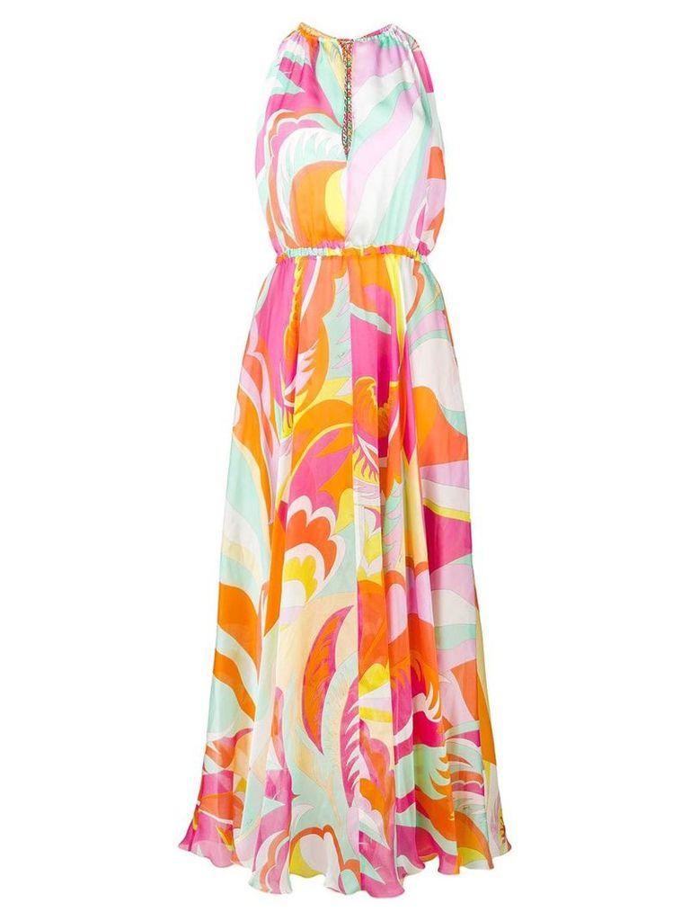 Emilio Pucci Rivera print maxi dress - Orange