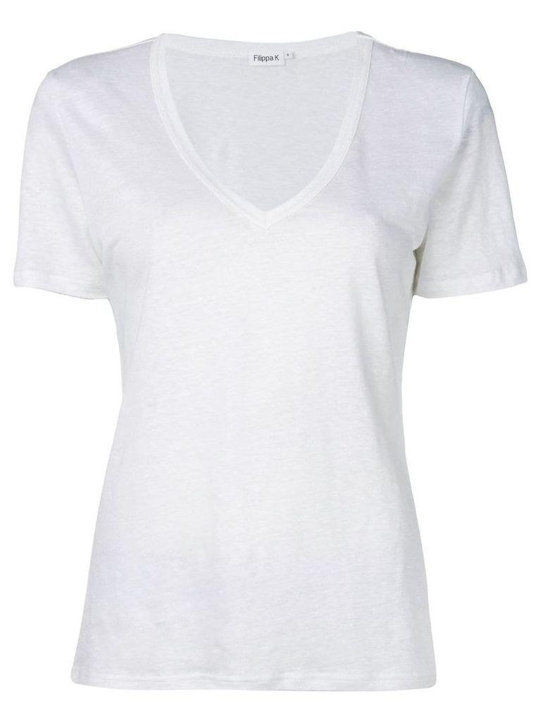 Filippa-K v-neck T-shirt - White