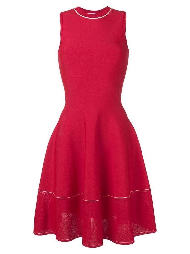 Victoria Beckham A-line pleated dress - Red
