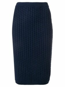Alessandra Rich cable knit skirt - Blue