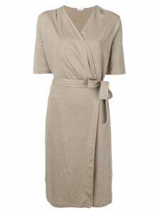 Filippa-K short-sleeve wrap dress - Neutrals