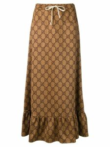 Gucci GG Supreme drawstring skirt - Brown