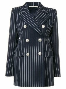 Alessandra Rich pinstriped blazer - Blue