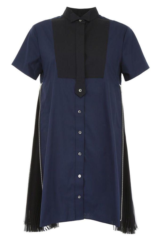 Sacai Shirt Dress With Pleats