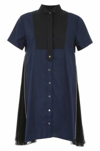 Sacai Shirt Dress With Pleats