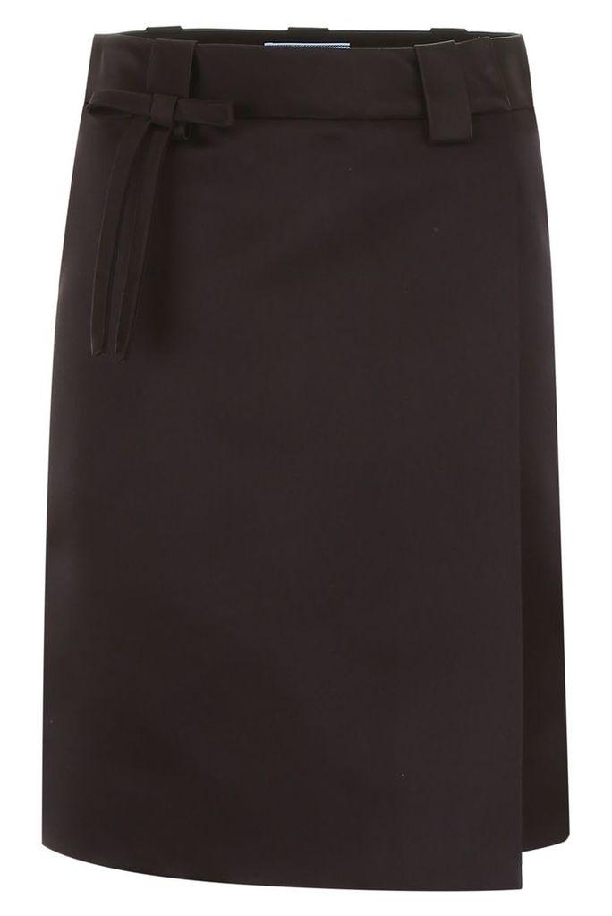 Prada Wrap Skirt With Bow