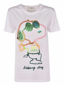 Iceberg Iceberg Embroidered Snoopy T-shirt
