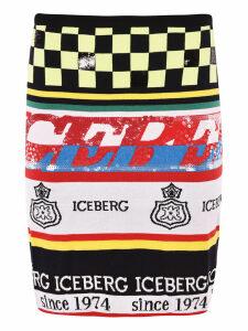 Iceberg Logo Multipattern Skirt