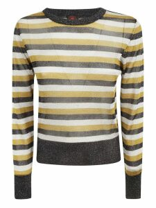 Happy Sheep Striped Print Jumper