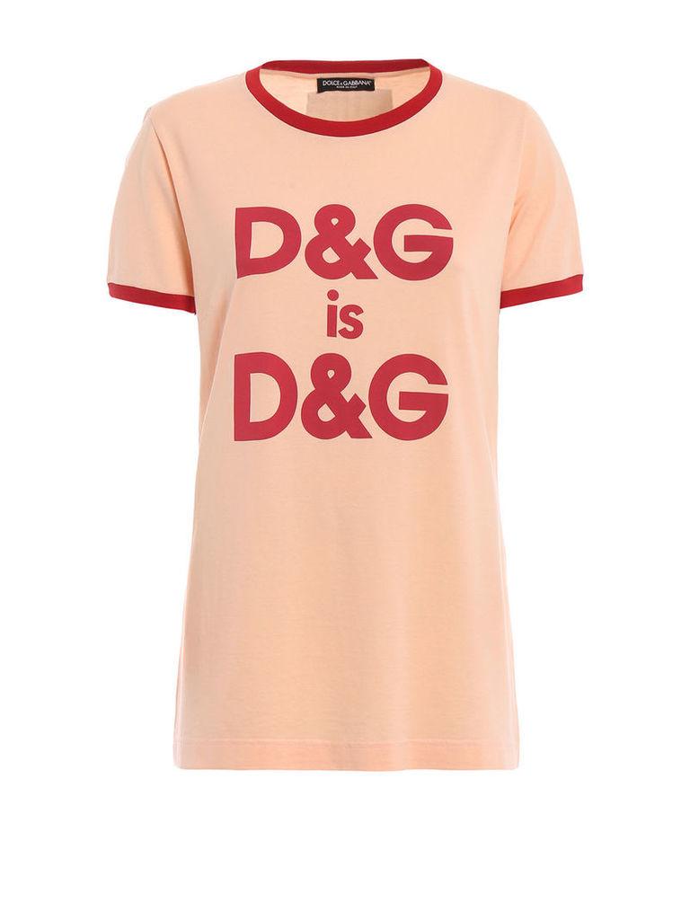 Dolce Gabbana Logo Print T-shirt