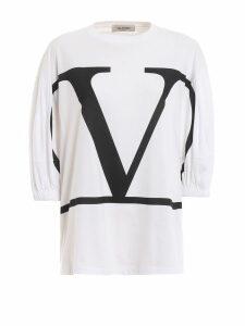 Valentino Oversized Logo Print Top