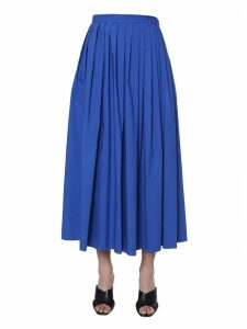 Boutique Moschino Pleated Midi Skirt