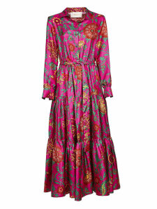La DoubleJ Printed Belted Shirt Dress