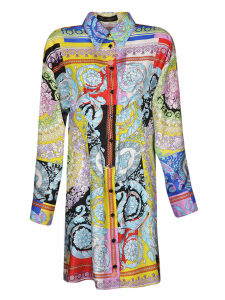 Versace Abstract Print Mid-length Dress