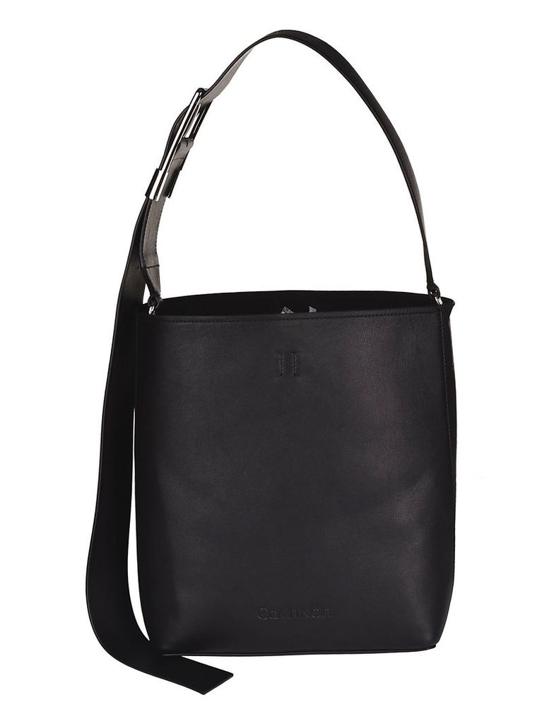 Calvin Klein Debossed Logo Bucket Bag