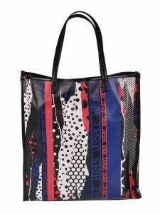 Versus Versace Torn Polka Dot Print Shopper Bag